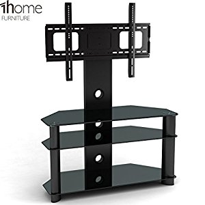 1home meuble tv hauteur adjuste table de sale pour ecran suspendu verre noir satisfaits du produit. Black Bedroom Furniture Sets. Home Design Ideas