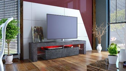 meuble tv bas armoire basse lima rock en optique ardoise magnifique achat. Black Bedroom Furniture Sets. Home Design Ideas