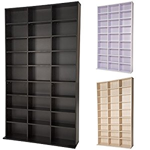 tectake tag re rangement cd dvd meuble de rangement. Black Bedroom Furniture Sets. Home Design Ideas