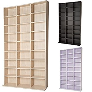 tectake tag re rangement cd dvd meuble de rangement pour 1080 cds etag re de qualit moyenne. Black Bedroom Furniture Sets. Home Design Ideas