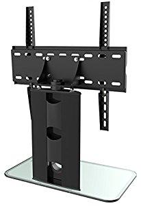 ricoo meuble tv design support pied en verre support fs303w pied support pour led tv cran plat. Black Bedroom Furniture Sets. Home Design Ideas