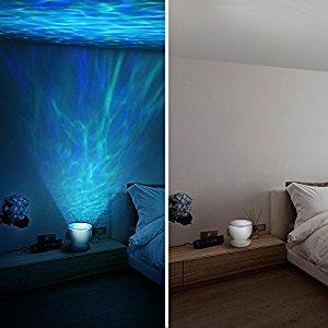 Homasy Projecteur Veilleuse De Vagues Ocean Lumiere Led De Nuit Et