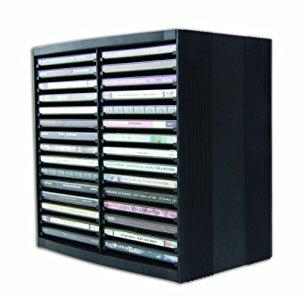 fellowes 9823102 rangement pour cd noir beaux rangements. Black Bedroom Furniture Sets. Home Design Ideas