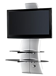Meliconi Ghost Design 2000 Support Mural Pour Tv Plasma Lcd Blanc
